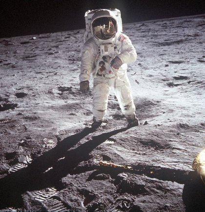 Armstrong's iconic photograph of Buzz Aldrin on the moon