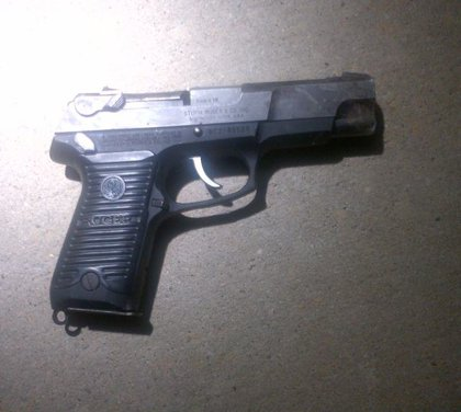 The Ruger found near the scene