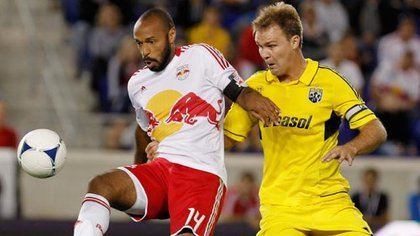 Thierry Henry ran circles around the Crew's Chad Marshall all night.