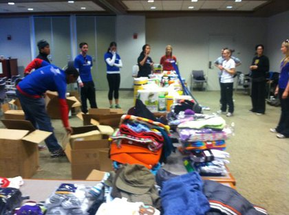 The supply drive at the American Cancer Society's Hope Lodge