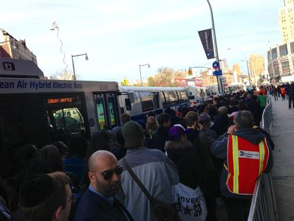 The line outside Barclays Center