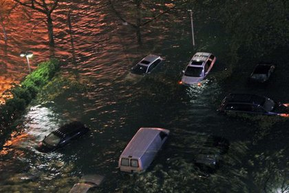 Sandy surge flooding.
