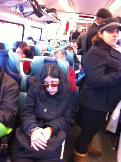 """""""Picture standing elbow to elbow for an hour on the subway..... Oh wait, this the LIRR!"""""""