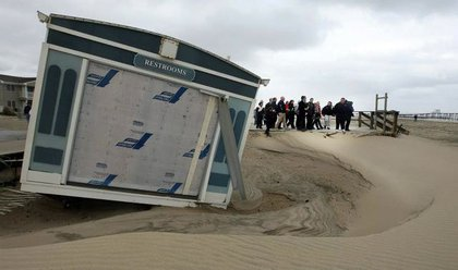 Hurricane Sandy damage in Belmar, N.J.