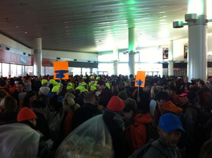 Runners occupy the Staten Island Ferry!