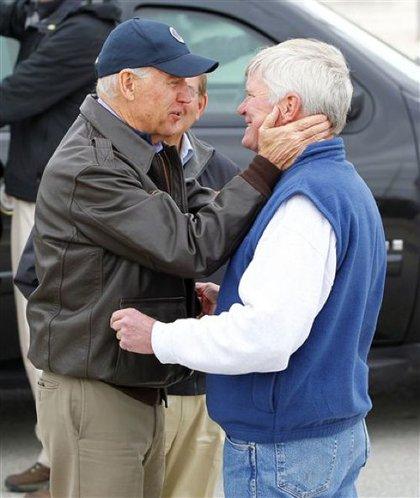 """Biden """"greets Mayor Robert Matthies"""" in Seaside Heights"""