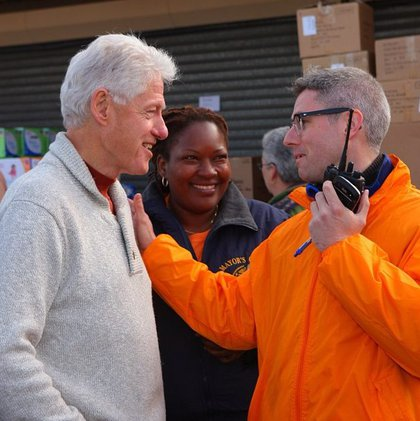 President Clinton meeting with Day of Action volunteers