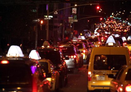 Yes, this is a line of cars on  10th Avenue in Manhattan WAITING FOR GAS yesterday