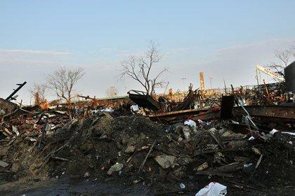 Debris in the Rockaways