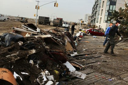 The Rockaways is filled with debris and rubble