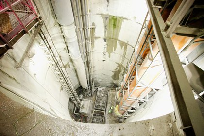 This is one of the two main access shafts going down to the 72nd Street cavern.