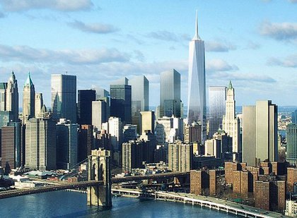 In the early renderings, 1WTC looks much taller than anything else in the area.