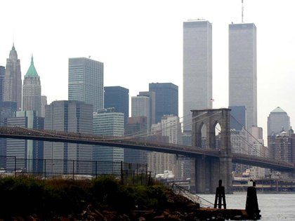 The old World Trade Center dominated the sky-line— the taller tower was 1,368 feet tall.