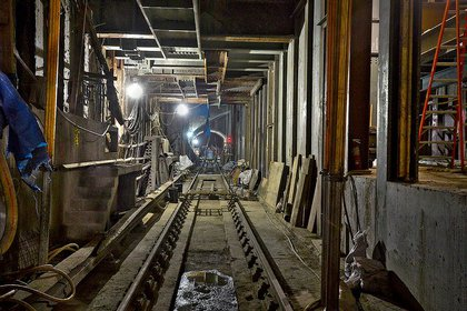 Inside the 63rd Street and Lexington Avenue station.