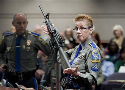 Showing what an AR-15 looks like.