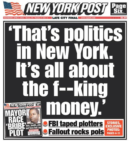NY Post front page