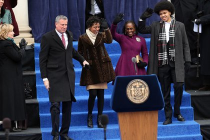 The de Blasio-McCray family