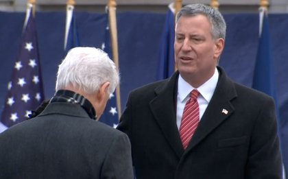 De Blasio takes the oath of office