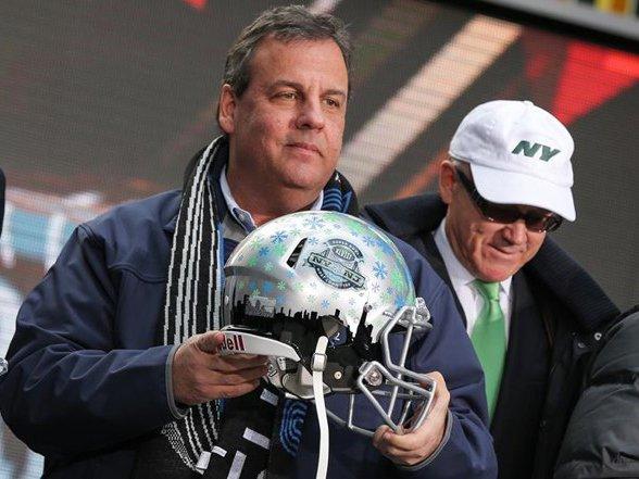 Governor Chris Christie at Super Bowl Boulevard