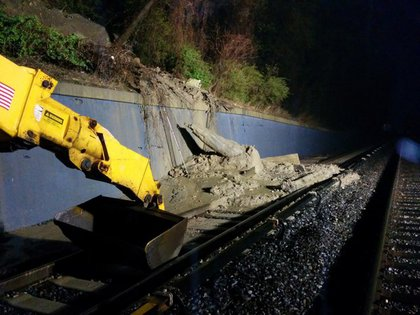 In Yonkers, the mudslide by the Metro-North line