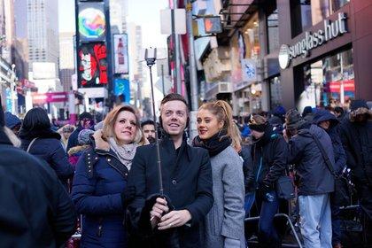 Selfie stick New Year's