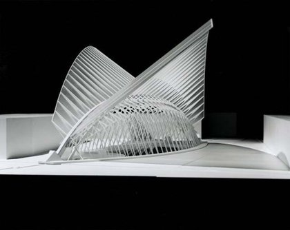 A model from Santiago Calatrava's studio
