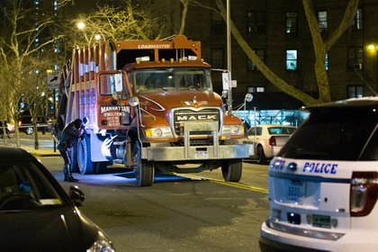 A private sanitation truck driver fatally struck a bicyclist in Long Island City in 2015