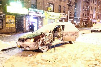 The parked Subaru