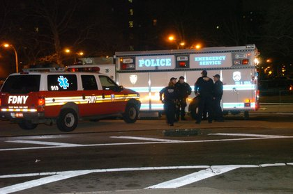 NYPD at the scene