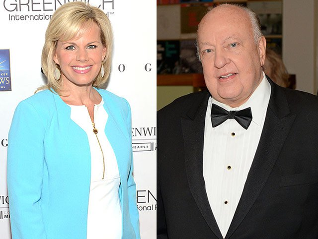 Gretchen Carlson, left; Roger Ailes