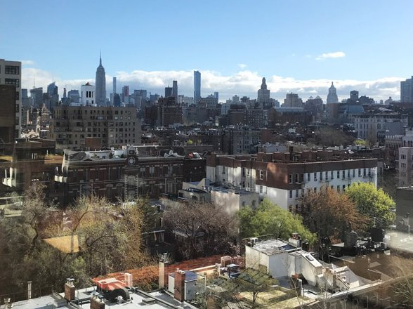 "The view from Gothamist's new headquarters at WNYC, taken by Jen Chung's daughter Katie during ""Take Your Child To Work Day."""