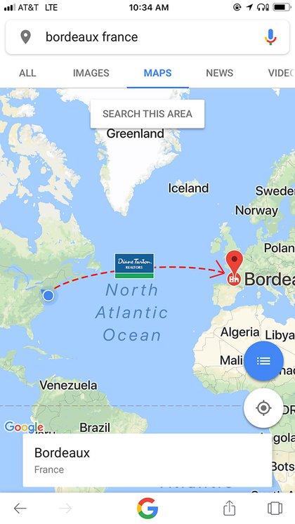 Google map, courtesy of Diane Turton, Realtors