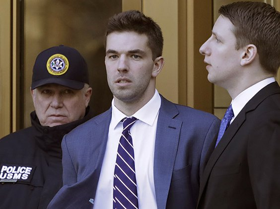 Billy McFarland, the promoter of the failed Fyre Festival in the Bahamas, leaves federal court after pleading guilty to wire fraud charges, in New York, March 6, 2018.
