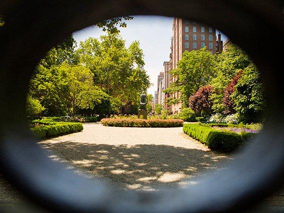 Inside Gramercy Park