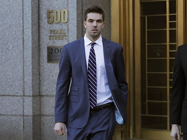 Billy McFarland outside federal court earlier this year