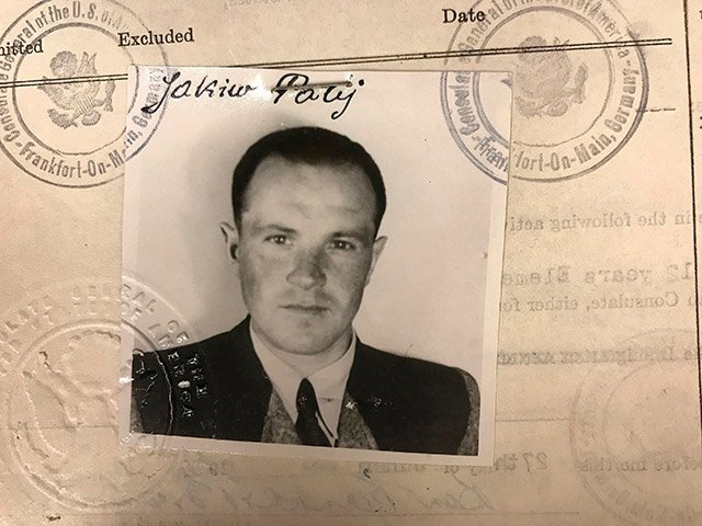 This 1949 photo provided by the U.S. Department of Justice shows a U.S. visa photo of Jakiw Palij, a former Nazi concentration camp guard who had been living in the Queens borough of New York.