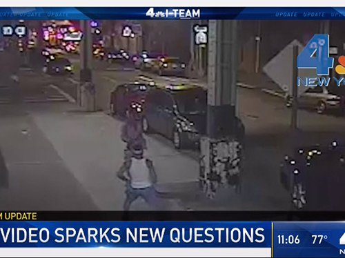 The surveillance video shows Ritchard Blake and Thavone Santana talking before the shooting