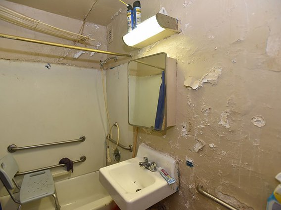 Inside the apartment of a tenant at the Andrew Jackson Houses in the Bronx