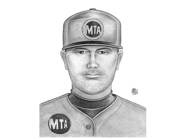 The police sketch of the suspect