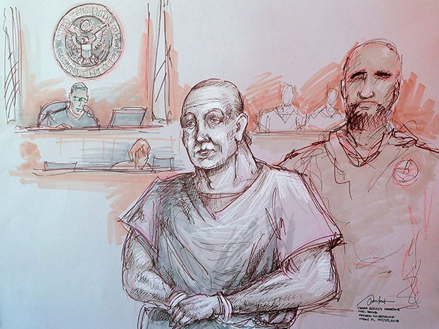 Cesar Sayoc appears in federal court in Miami on October 29, 2018