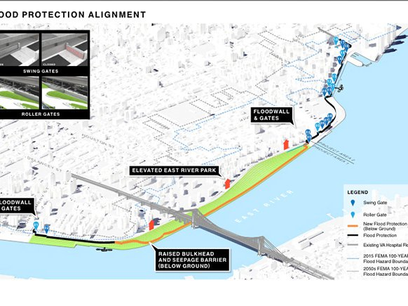 City Hall's plan would use landfill to raise most of East River Park by eight feet.