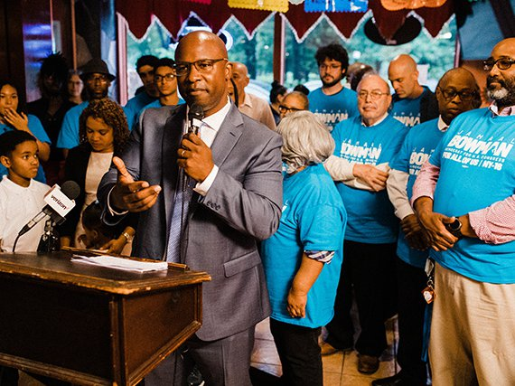 Cornerstone Academy for Social Action principal Jamaal Bowman has been endorsed by Justice Democrats, the same group that helped send Alexandria Ocasio-Cortez to Congress.
