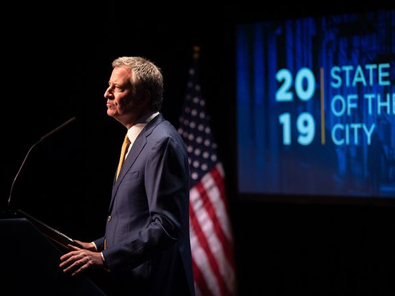Mayor de Blasio at the 2019 State of the City address