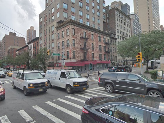 Looking west at East 37th Street and Third Avenue