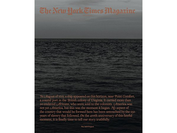 The New York Times Magazine cover for the 1619 project.