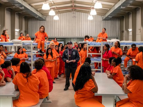 The ICE detention scene in Season 7, Episode 3 of Orange is the New Black