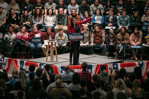 """Alexandria Ocasio-Cortez Electrifies Iowa, No Bernie Required: """"She Is My President"""""""