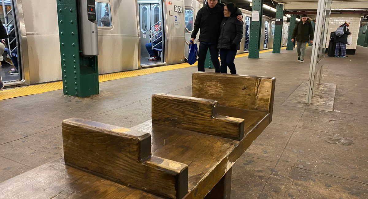 MTA Rips Backs Off Benches At West 4th Subway Station To Repel Homeless