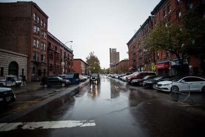 View down Alexander Avenue.