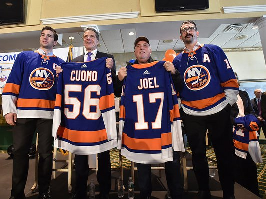 Governor Andrew M. Cuomo, joined from left: